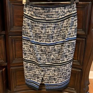 The Limited Skirts - Navy blue and white skirt